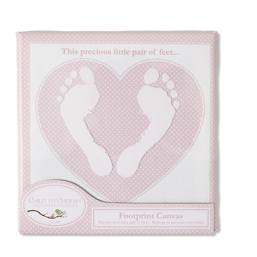 Infant Girls' Footprint Canvas