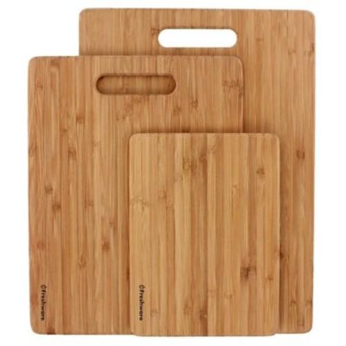 Freshware 3 Piece Bamboo Cutting Board Set