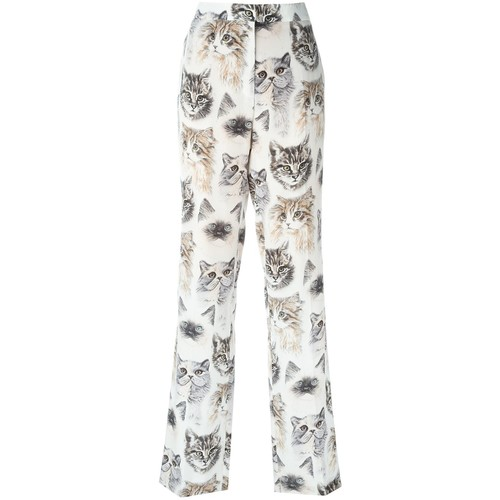 STELLA MCCARTNEY Cat Print Trousers