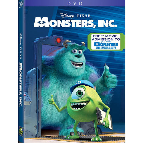 Monsters Inc. DVD (With Free Monsters U Admission Included)
