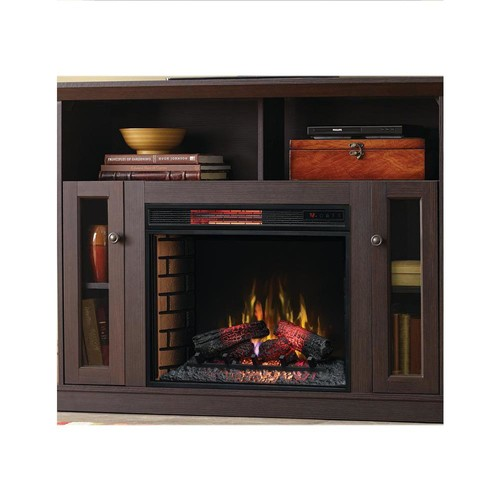 Home Decorators Collection Charles Mill 46 in. Convertible TV Stand Electric Fireplace in Espresso
