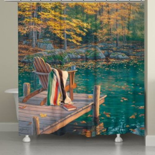 Laural Home Golden Pond Shower Curtain