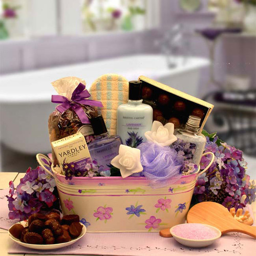Tranquility Bath Gift Basket with Soaps, Sponges, etc. - 11-piece Set