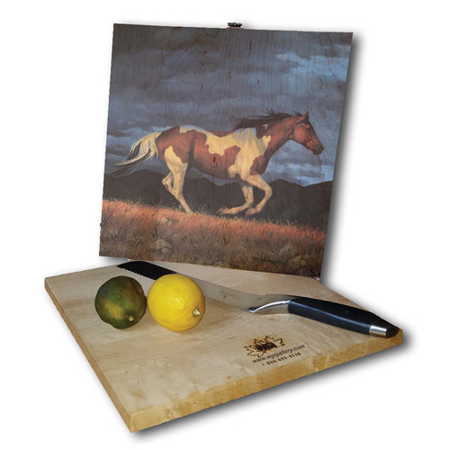 WGI Gallery Storm Front Multicolor Wood Cutting Board [option : 12 inches high x 6 inches wide]