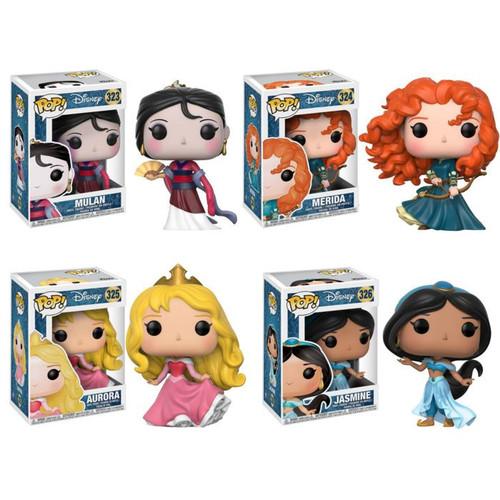 Funko POP! Disney Princess Collectors Set 2; Mulan, Merida, Aurora, Jasmine