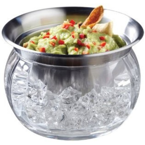 Prodyne Bowl And Dip Cup On Ice 22 Oz Stainless Steel