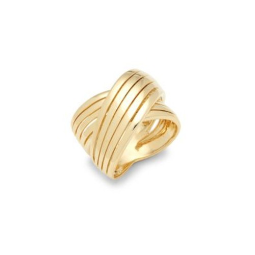 Roberto Coin - 18K Gold Wide Crossover Ring