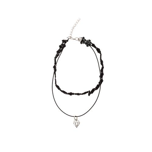Lace Diamond Choker Necklace