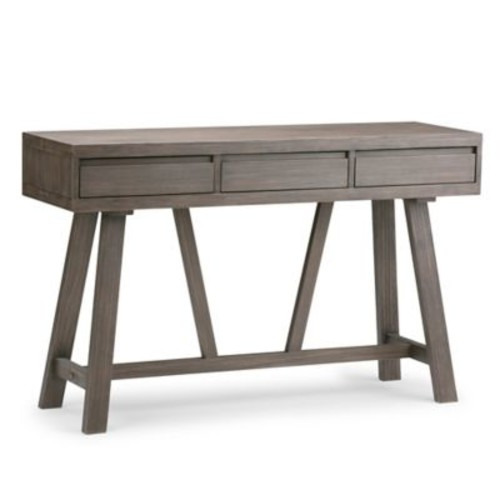 Simpli Home Dylan Hallway Console Table with Driftwood Finish