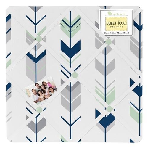 Sweet Jojo Designs Grey/Mint Mod Arrow Collection Memo Board