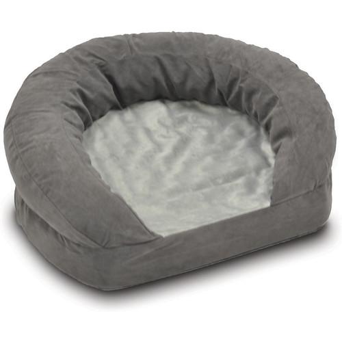 K&H Pet Products Gray Velvet Ortho Bolster Sleeper Pet Bed [X-Large]