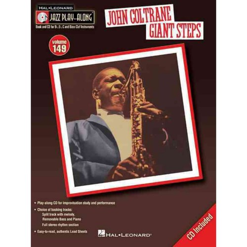 John Coltrane - Giant Steps: Jazz Play-Along Volume 149 (Book/CD)