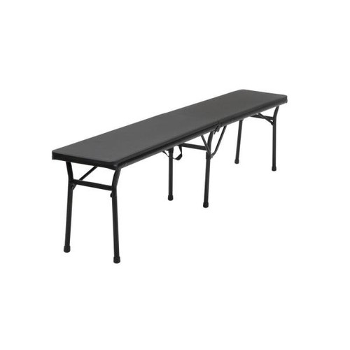 Cosco Black Portable 2-Pack Folding Tailgate Bench