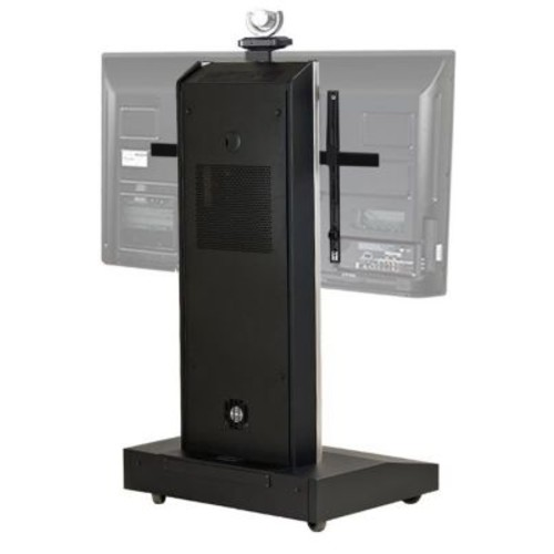 VFI Moble Telepresence Stand w/ Monitor Mount for 50'' - 90'' Displays; Black