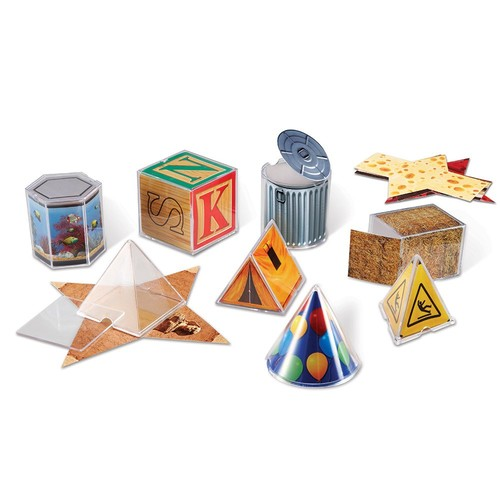 Learning Resources Real World Folding Geometric Shapes Set of 8 [1]