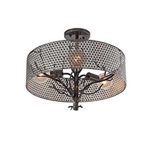 Varaluz Treefold 3 Light Ceiling Lighting , Steel With Recycled Steel Mesh