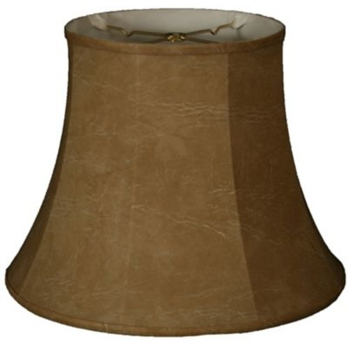 RoyalDesigns Timeless 10'' Faux Leather Bell Lamp Shade