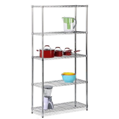 Honey-Can-Do Chrome Adjustable Shelving Unit - 5 Tier