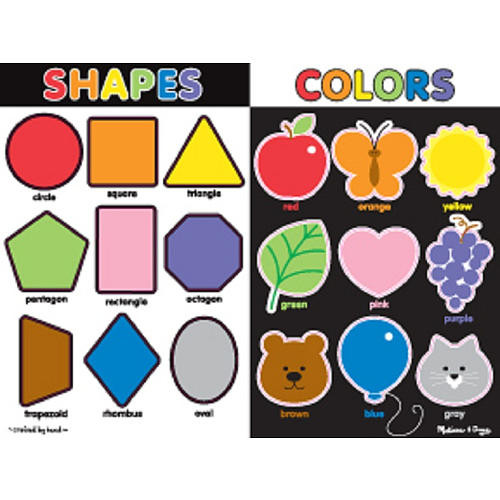 Melissa & Doug Large Chunky Puzzle - Colors and Shapes