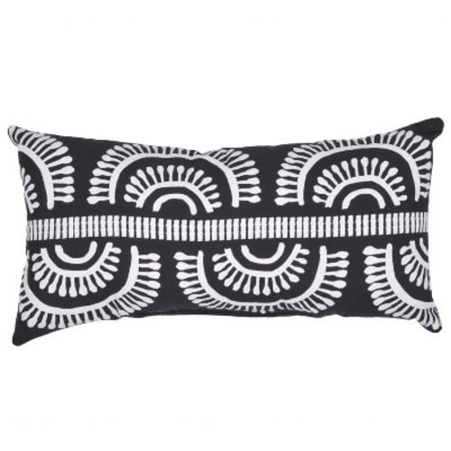 Outdoor Throw Pillow Lumbar - Arc Black - Project 62