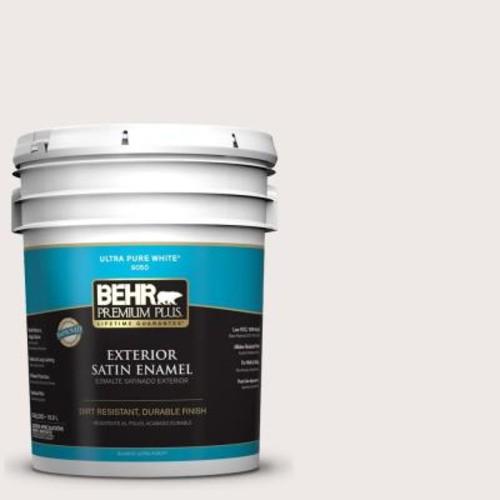 BEHR Premium Plus 5-gal. #720A-1 Phantom Mist Satin Enamel Exterior Paint
