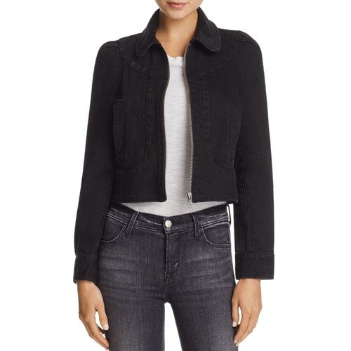 Evelyn Zip-Front Denim Jacket