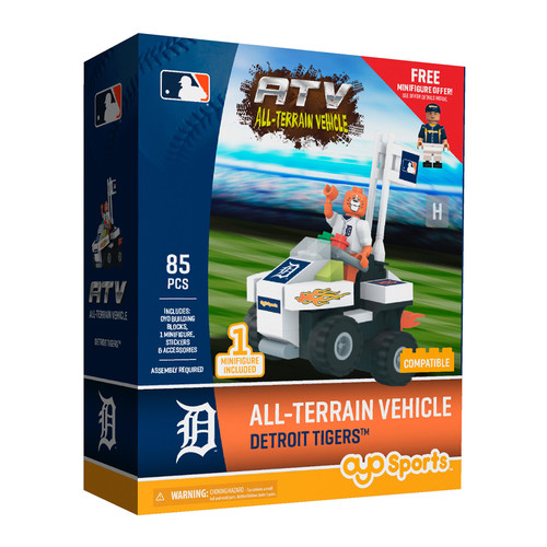 OYO Sports MLB All-Terrain Vehicle with Super Fan Detroit Tigers Building Set