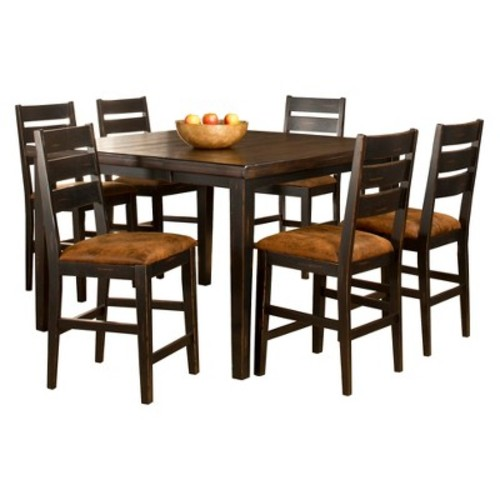 Killarney Ladder Back Stool and Counter Height Dining Table Wood/Brown (5 Piece Set) - Hillsdale Furniture