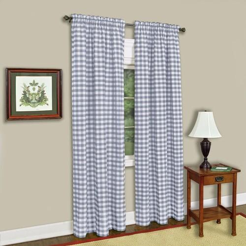Achim Buffalo Check Window Curtain Panel - 42x63 - Grey