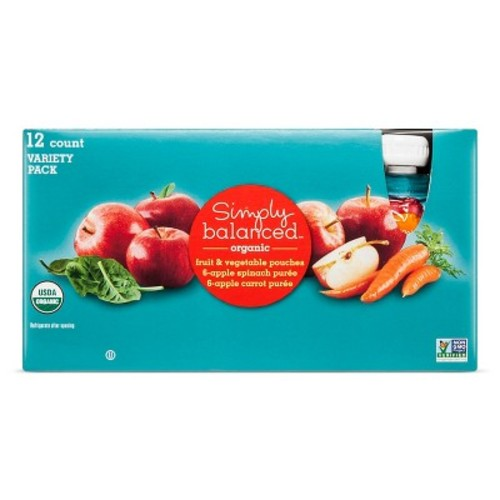 Mixed Fruit & Vegetables Poches 12ct - Simply Balanced