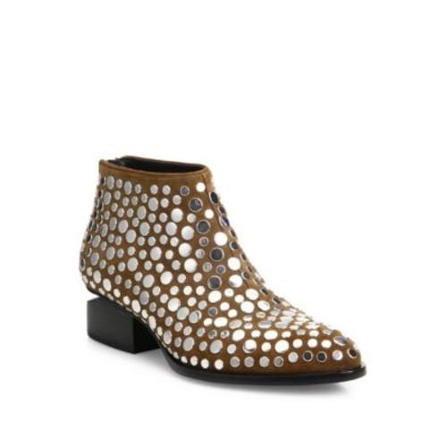 ALEXANDER WANG Studded Kori Lift Heel Boots