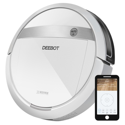 Ecovacs DEEBOT WiFi/Smartphone Controlled Robotic Vacuum Cleaner with Advanced Wet/Dry Mop