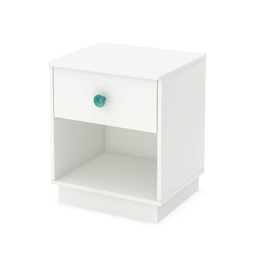 South Shore Little Monsters 1-Drawer Night Stand - Pure White