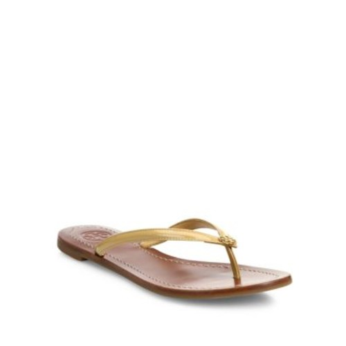 TORY BURCH Terra Patent Leather Thong Sandals