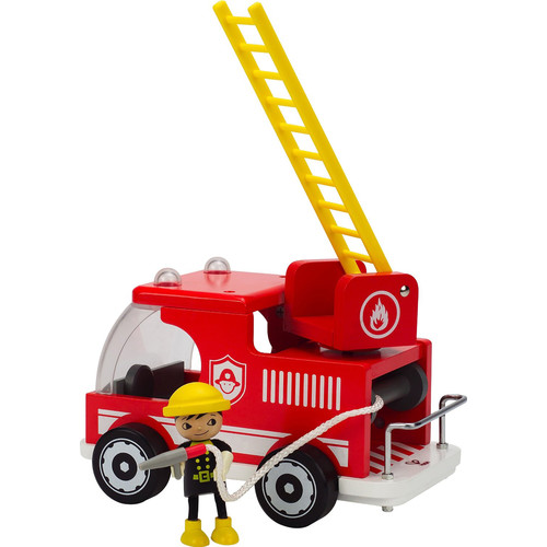 Hape Playscapes - Fire Truck Wooden Play Set