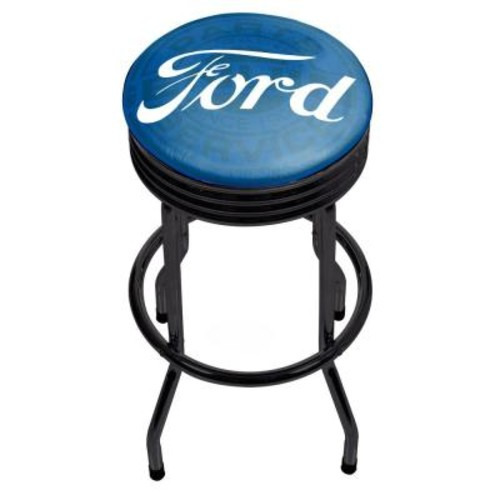 Trademark Genuine Parts 29 in. Chrome Swivel Cushioned Bar Stool