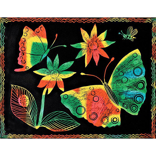Melissa & Doug Scratch Art Paper - 50 Multicolor Sheets