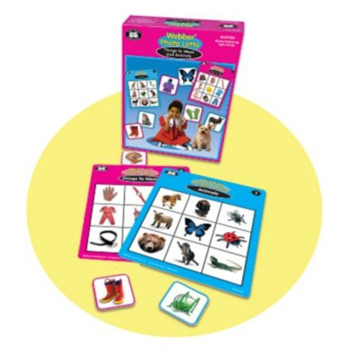 Super Duper Webber Things to Wear and Animals Photo Lotto Game Board