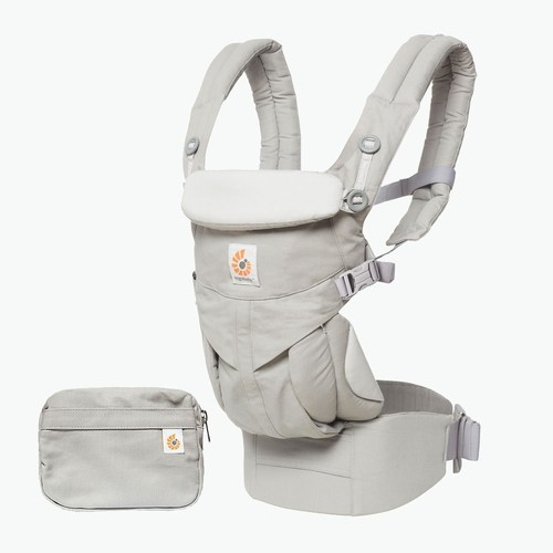 Ergobaby OMNI 360 All-in-One Ergonomic Baby Carrier, All Carry Positions, Newborn to Toddler, Pearl Grey [Pearl Grey]