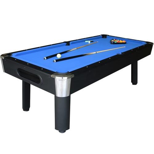 Sportcraft 8' Bay Shore Blue Felt/Black Finish Billiard Table w/Table Tennis Top