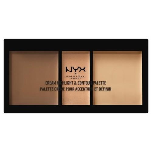 NYX Professional Makeup Cream Highlight and Contour Palette, Medium