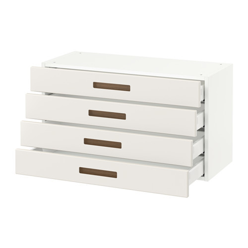 SEKTION Wall cabinet with 4 drawers, white Maximera, Ringhult white