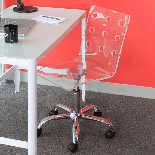 WOYBR OFC-TW CL Acrylic, Chrome Swiss Office Chair