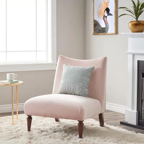 Applewood Slipper Blush Pink Velvet