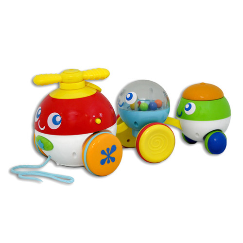 Winfun Multicolored Plastic Pull-along Bubble Pals