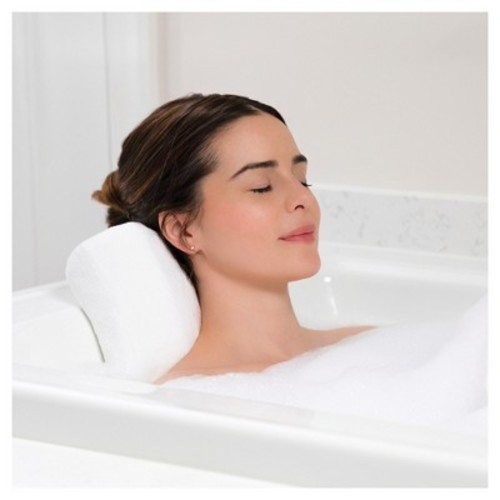 Memory Foam Bath Pillow Large White - Spa Sensations