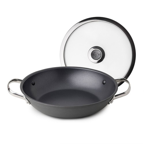 Revere Clean Pan Hard-Anodized Aluminum Nonstick Braising Pan with Lid