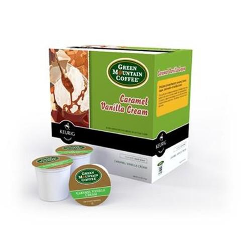 Keurig Coffee Caramel Vanilla Cream, K-Cups, 18 Ct