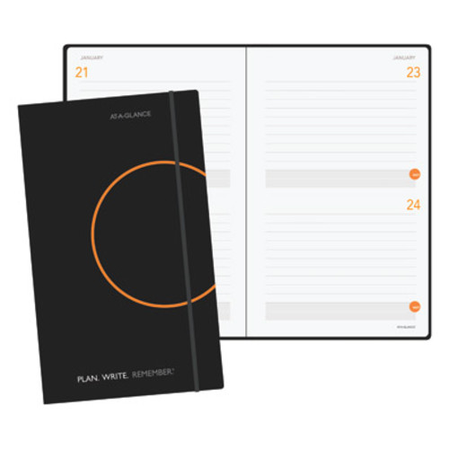 AT-A-GLANCE Two-Days-Per-Page Perfect-Bound Planning Notebook, Black [Unit : each; : ; Ships In : 1 to 3 days]