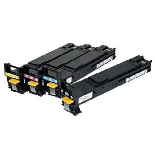 Konica Minolta Toner Set for 5670EN Printer: Black, Cyan, Magenta, Yellow KCK5670CH